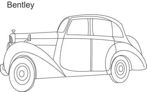 bentley car coloring printable page  kids craft ideas