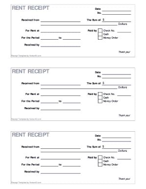 120 Printable Rent Receipt Template Forms - Fillable ...
