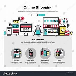 T Online Service Shopping : one page web design template thin stock vector 347821856 shutterstock ~ Eleganceandgraceweddings.com Haus und Dekorationen