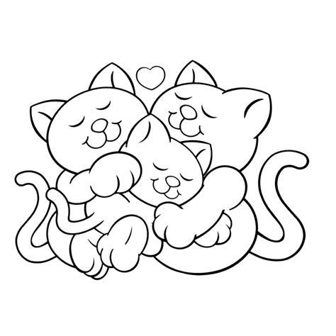 Kitens Kleurplaat by Katten Kleurplaten Kleurplatenpagina Nl Boordevol