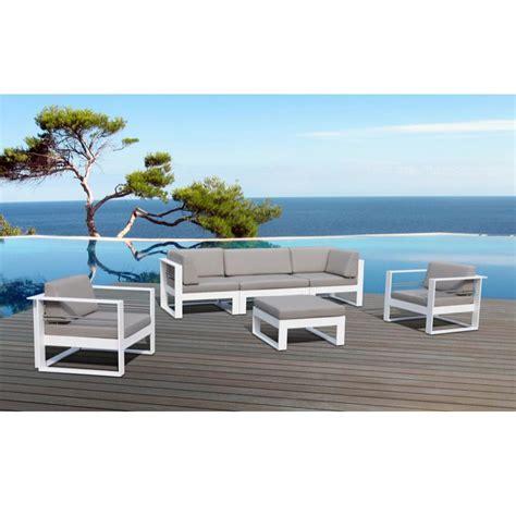 canap de jardin aluminium salon de jardin st tropez en métal et tissu 5 places