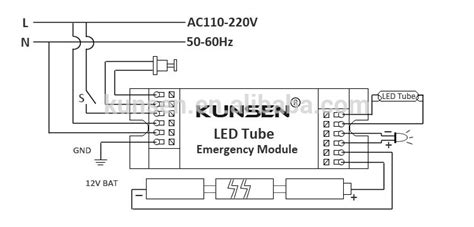 Wiring Diagram For T5 Conversion by 230 Volt Output T5 T8 Led Emergency Kit And Battery