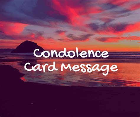 condolence card message sympathy quotes