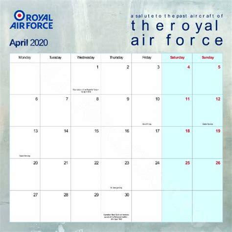 official raf salute calendar