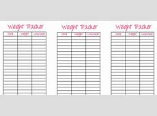Weight Tracker Printable Insert Bobbi Dust Coaching
