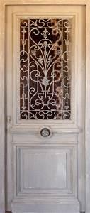 Grille Porte D Entrée : porte avec ouvrant vitr grille en fonte portes d 39 entree ~ Melissatoandfro.com Idées de Décoration
