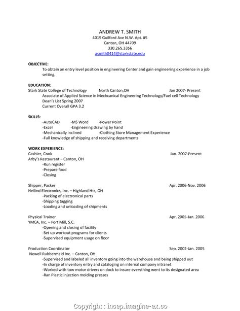 Resume For Retail Clothing Store by Newest Cv For Clothing Store Clothing Retail Resume