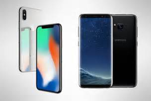 iphone vs samsung iphone x vs samsung galaxy s8 battle of the