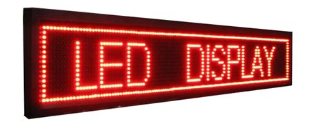 led running text indoor 50x15 single color running text led display sunvision