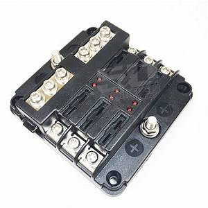 Universal 6 Fuse 12v Power And Ground Block
