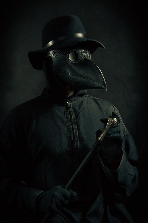 leather plague doctor mask   gothic plague