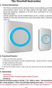 Unichain Technology Wa878 Wireless Doorbell User Manual