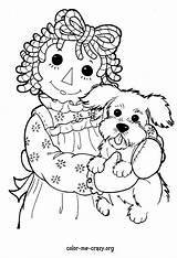 Coloring Raggedy Ann Rag Andy Doll Adult Costume Sheet General Farm Sheets Getdrawings Animal Doodle Drawings Colormecrazy sketch template