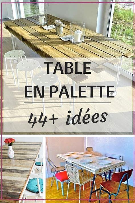 table de cuisine 8 places table en palette 44 idées à découvrir photos