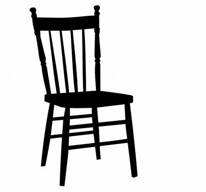 Chair Clipart Wooden Silhouette Hard