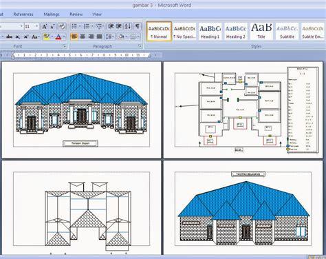 menggambar desain rumah lewat microsoft office word