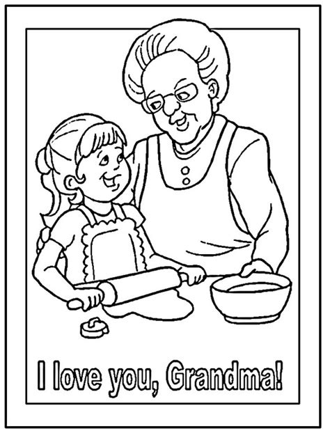grandparents day coloring pages activities  kids family holidaynetguide  family