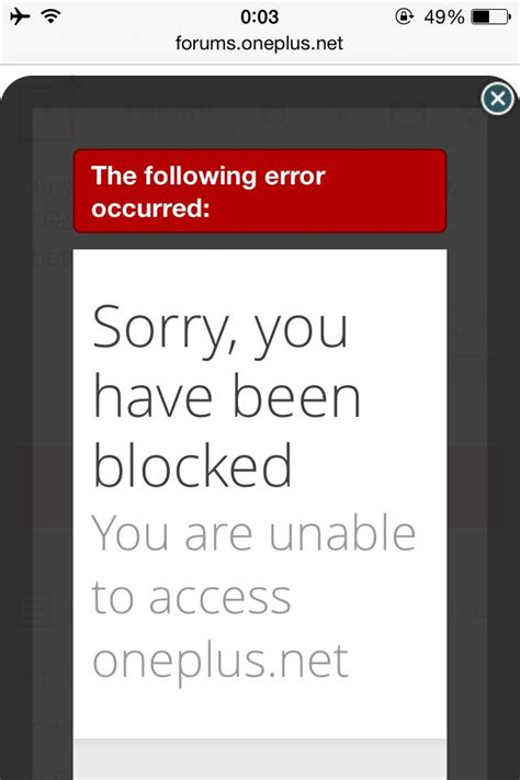 blocked oneplus community