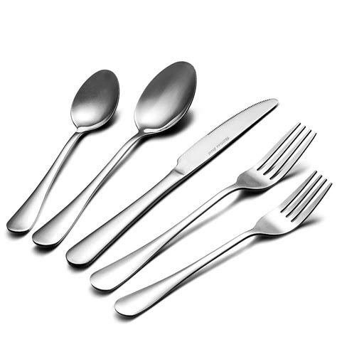 silverware flatware dishwasher rust safe proof umite cutlery piece service