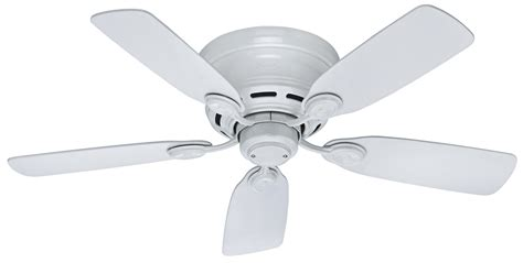 Hunter 42 Low Profile Iv Ceiling Fan Hu 51059 In White