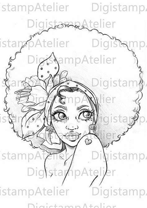 Pin by Patricia josephson on drawings | Afro girl, Coloring pages for girls, Afro tattoo