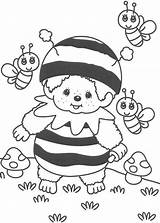 Bee Coloring Pages Bumble Bumblebee Cute Little Kid Custome Drawing Colouring Printable Sheets Monchhichi Coloriage Adult Getdrawings sketch template