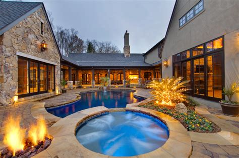 inspiring house plans with pools in the middle photo arbor oaks concord nc