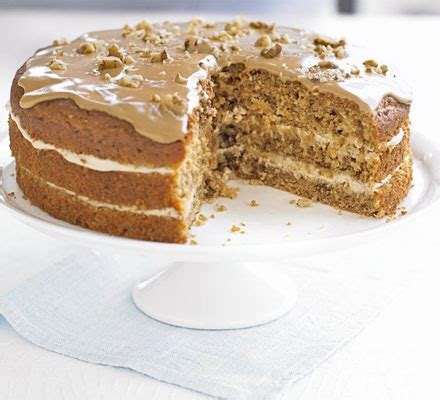 ultimate makeover coffee walnut cake bbc good food