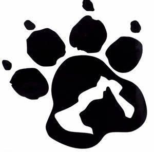 Dog & Cat Silhouette Paw Print Car Truck Window Vinyl ...