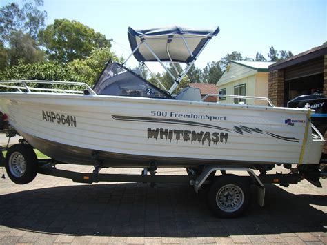 Quintrex Wake Boat by Quot Whitewash Quot Custom Boat Name Registration Graphics Kit