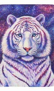 Colorful Cosmic White Tiger Baby Blanket | Zazzle.com ...