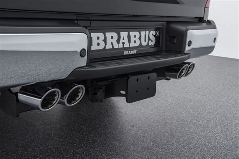 mercedes xclass brabus pickup exhaust  fast lane truck