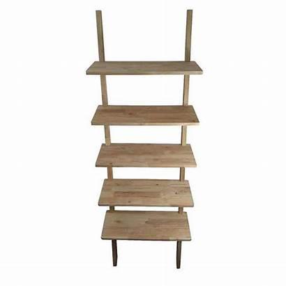 Bookcase Tier Ladder Scandi Shelf Bookshelf Timber