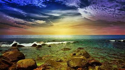 Seascape Colorful Landscapes Wallpapers Summer Pretty Backgrounds