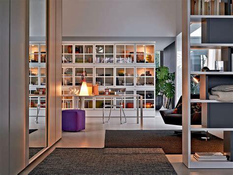 libreria  parete laccata  vetro piroscafo  molteni