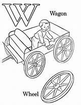 Coloring Abc Alphabet Printable Wagon sketch template