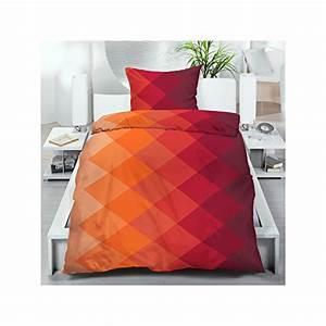 Microfaser Bettwäsche Waschen : microfaser bettw sche 135 200 cm 2 oder 4 tlg bettgarnitur orange rot rautenmuster farbverlauf ~ Buech-reservation.com Haus und Dekorationen