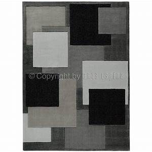 tapis moderne reflective gris fonce arte espina 120x180 With tapis moderne gris