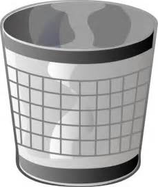 Empty Trash Bin Clip Art