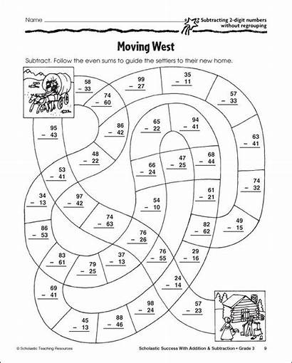 Coloring Pages Grade Subtraction Regrouping Addition Digit