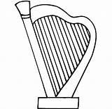Harp Clipart Outline Mermaid sketch template