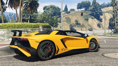 lamborghini aventador sv roadster gta 5 2016 lamborghini aventador lp750 4 superveloce roadster add on gta v 9800 movies youtube