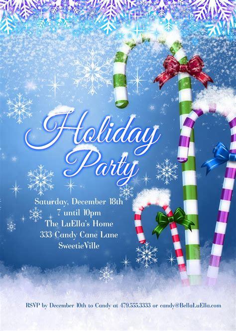 bella luella christmas  holiday party invitations