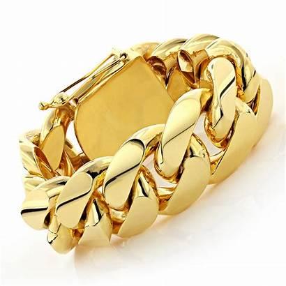 Cuban Bracelet Gold Link Kilo Solid Miami