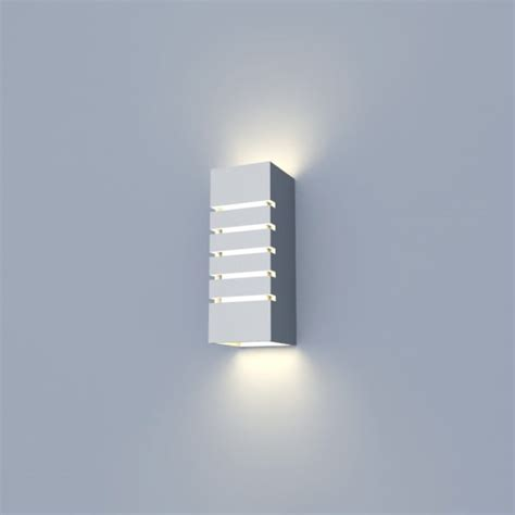3d model interior wall l light