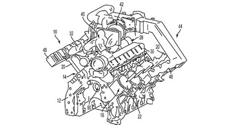 Ford V8 Engine Diagram by Ford Patent Reveals Plans For Turbocharged Pushrod V8