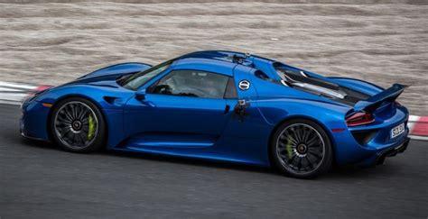 blue porsche spyder blue porsche 918 spyder exotic cars pinterest