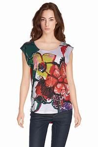 Tee Shirt Ete Femme : desigual tee shirt 61t24b5 amore rouge femme des marques et vous ~ Melissatoandfro.com Idées de Décoration