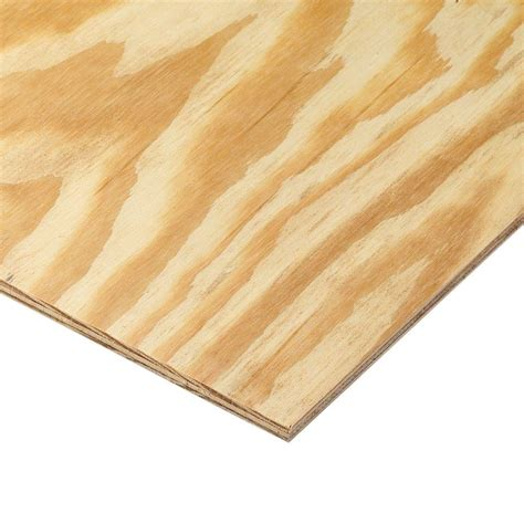 home depot flooring plywood 11 32 in x 4 ft x 8 ft rtd southern yellow pine plywood sheathing 166065 the home depot