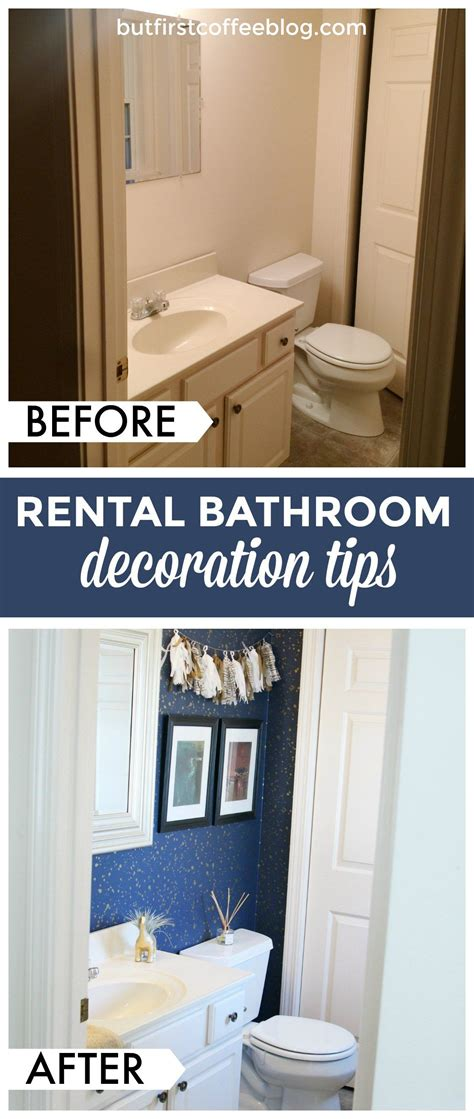Rental Apartment Bathroom Ideas by How To Decorate Your Rental Space Bathroom Rental Decor